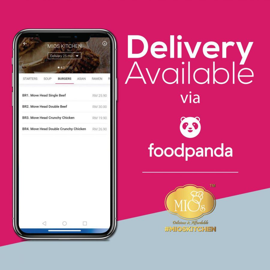 #MIOSKITCHEN DELIVERY FOODPANDA