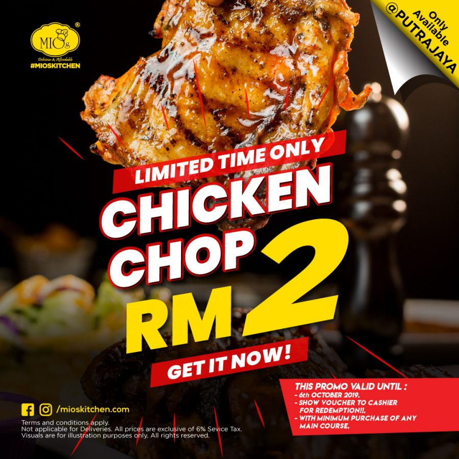 #MIOSCRAZYDEAL  RM2 CHICKEN CHOP