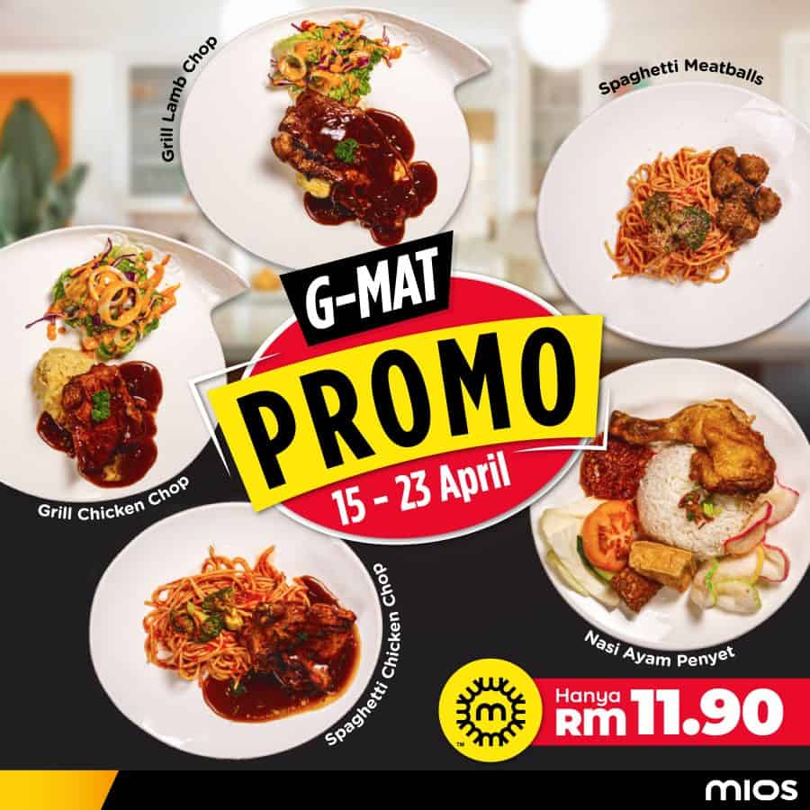 G-MAT: A NEW WALLET FRIENDLY PROMO BY MIOS KITCHEN